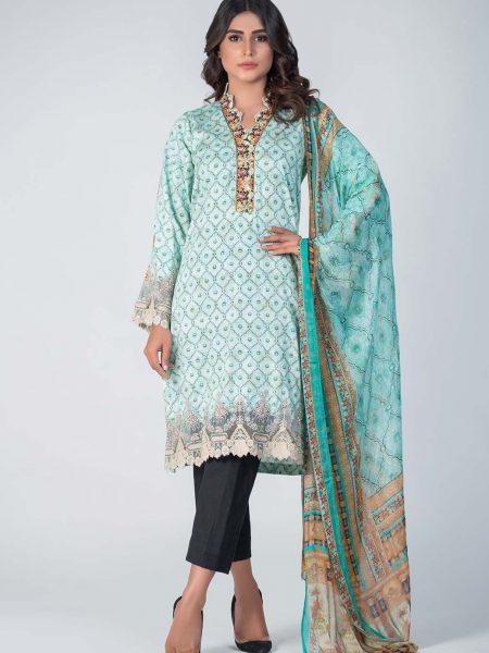 Bonanza Satrangi L-Green-Cotton Satin-Suit SPK192P026-L-GREEN
