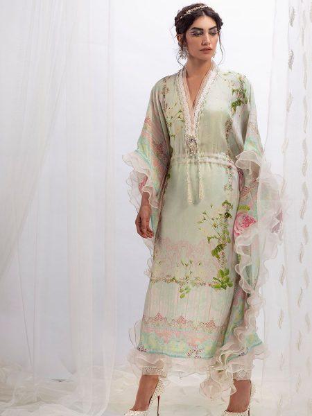 Farah Talib Aziz Rose garden kaftan