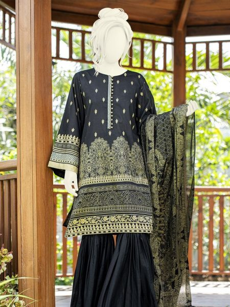 Junaid Jamshed Festive Collection-ii JLAWN-S-19-0196 Cypress Gold