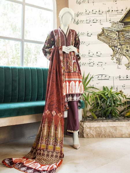 Junaid Jamshed Festive Collection-ii JLAWN-S-19-242/A Persian Pillars