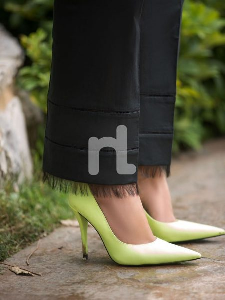 Nishat Linen Vol-2 41907226-Viscose Net & Slub Lawn Black Printed 2PC