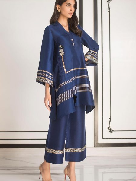 Sania Maskatiya Raw silk block printed kurta PD5002