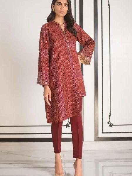 Sania Maskatiya Raw silk embroidered kurta PD5044