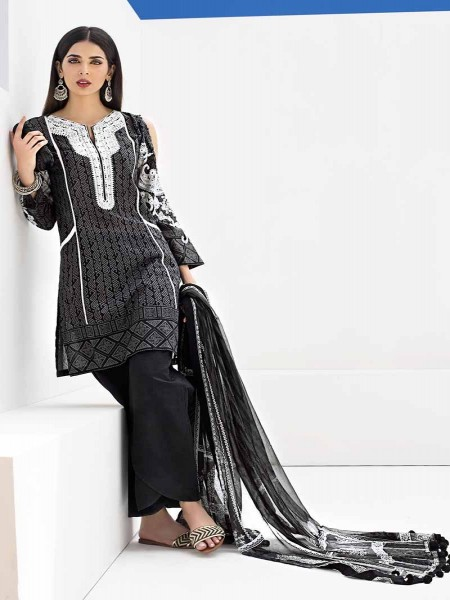 Gul Ahmed Black & White Collection Black BM-130