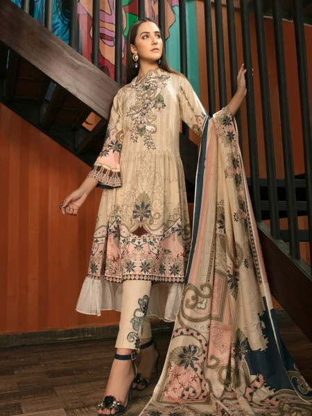 House of Ittehad Mid Summer Ethnics Peachy Beige