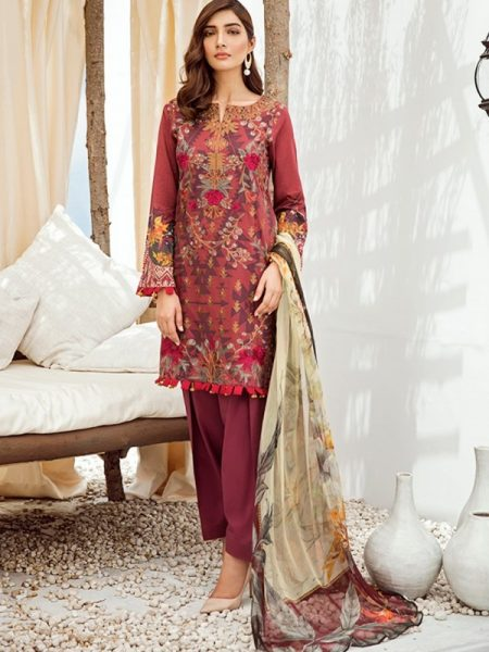 Iznik Chinon Lawn Vol 3 ICL -06 Barn Red (3PC)