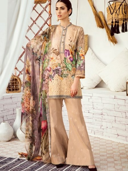 Iznik Chinon Lawn Vol 3 ICL -08 Warm Sand (3PC)