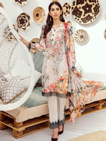 Iznik Chinon Lawn Vol 3 ICL -10 Whisper White (3PC)