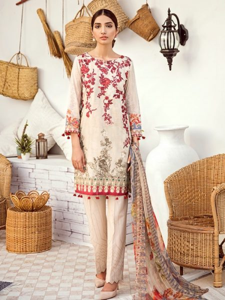 Iznik Chinon Lawn Vol 3 ICL -11 Seed Pearl (3PC)