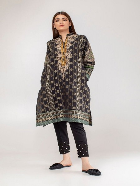 Khaadi Summer 19 Embroidered Kurta WTE19307-Black