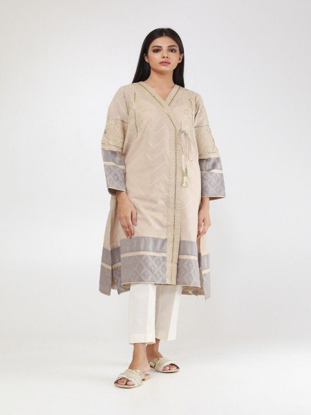Khaadi Summer 19 Embroidered Kurta WTE19308-Beige