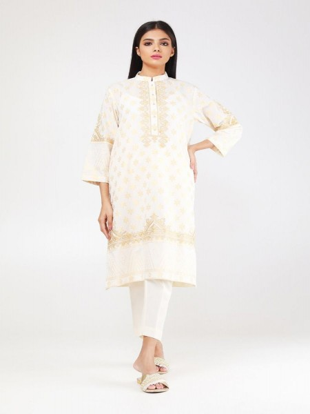 Khaadi Summer 19 Embroidered Kurta WTE19309-Off-White