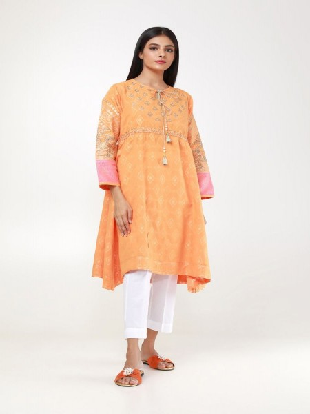 Khaadi Summer 19 Embroidered Kurta WTE19310-Coral