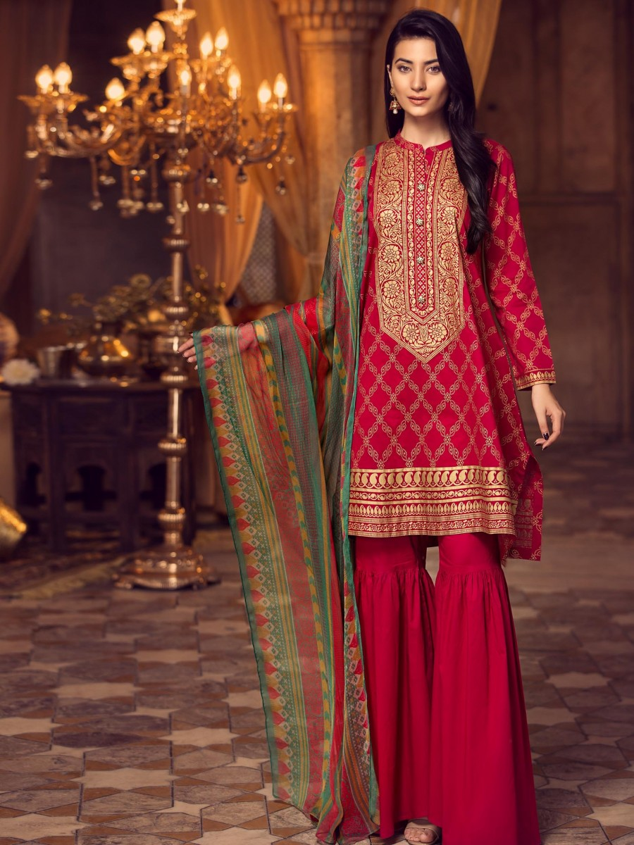 LimeLight Eid Edition 2-Pc Lawn Suit U0749-2PC-RED