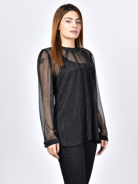 LimeLight Moonlit Net Top F1846-LRG-001