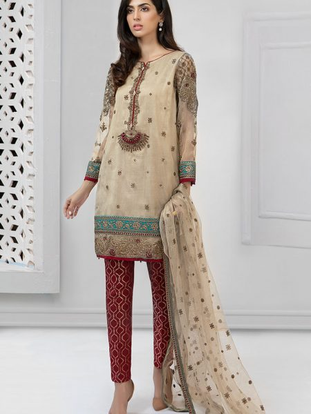 Maria.B Eid Collection Suit Beige SF-1913