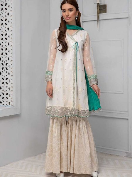 Maria.B Eid Collection Suit Off White DW-2194