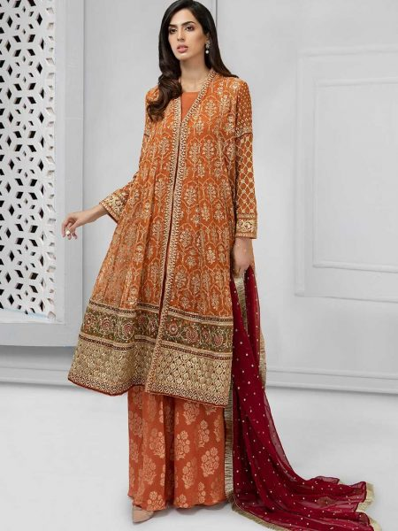 Maria.B Eid Collection Suit Rust SF-1690