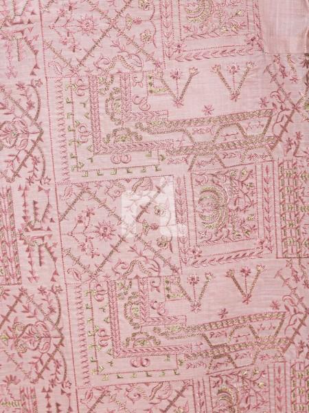 Nishat Linen 41907506-Silk Chiffon, Slub Lawn & Cambric Pink Digital Printed Embroidered 3PC