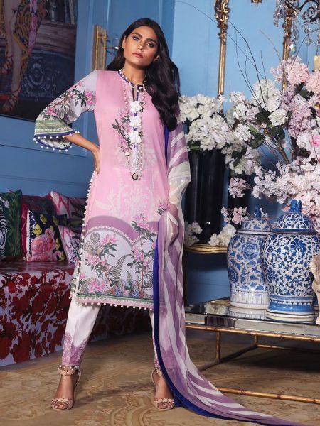 Sana Safinaz Muzlin V2 - 15B - Muzlin'19 Vol-2 - Unstitched Fabric