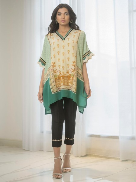 Sania Maskatiya Eid Collection Digitally printed crepe kurta PD19RG012