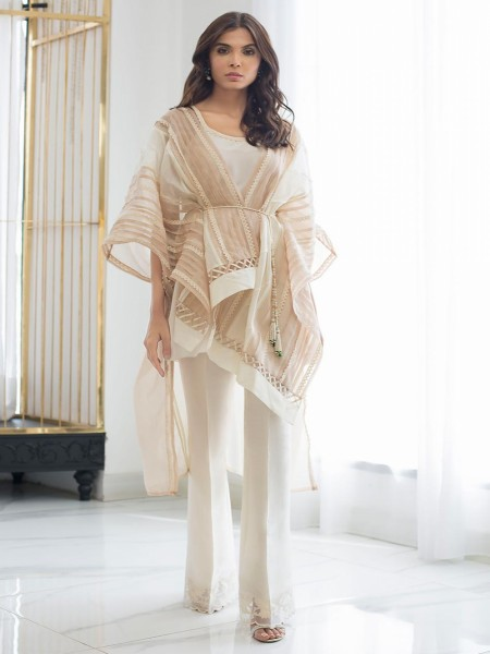 Sania Maskatiya Eid Collection Manipulated front open cape PD19RG011