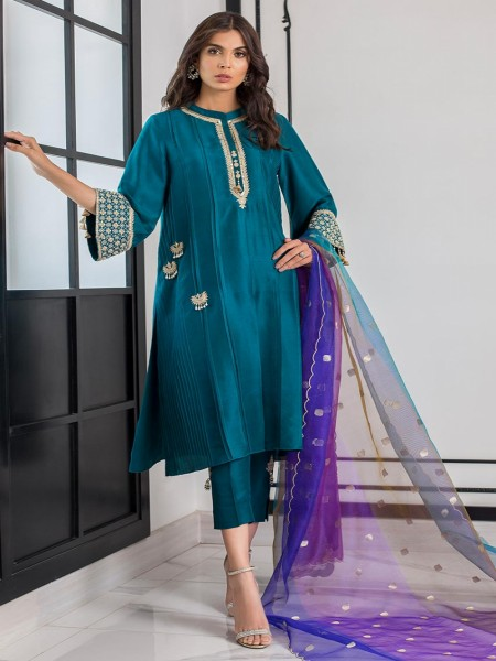Sania Maskatiya Eid Collection Pleated hand embellished kurta PD19RG018