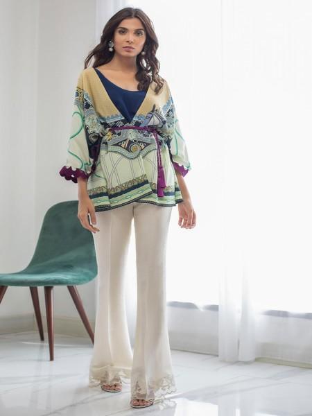 Sania Maskatiya Eid Collection Printed Jacket with slip PD19RG013
