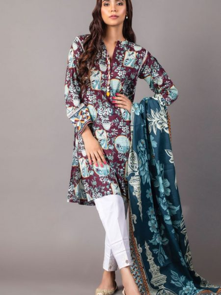 Zeen Woman Zoe Collection Unstitched 2 Piece Printed Lawn 620518