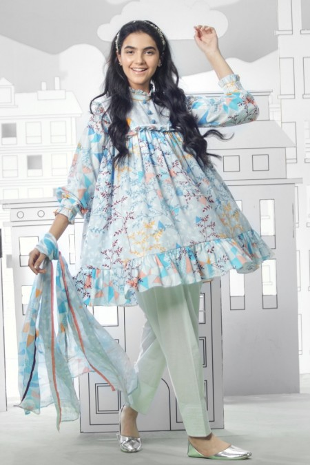 Alkaram Studio 2 Piece MAK Printed MAK-MS-B-002-19-Blue