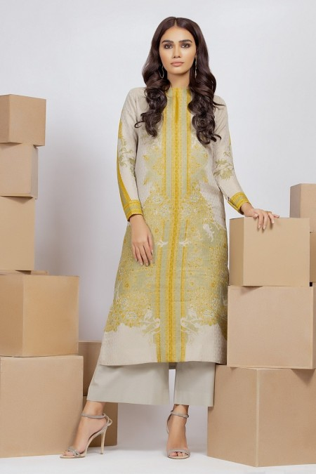 Alkaram Studio Infinite Collection 2 Piece Printed Suit with Cambric Trouser MS-20-19-Green