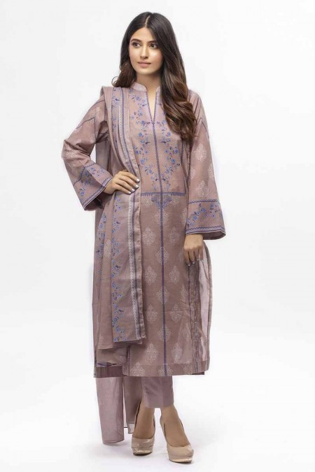 Gul Ahmed Summer Special Edition Light Brown CL-661 B