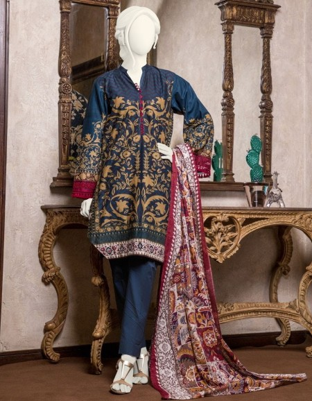 Junaid Jamshed Mid Summer Collection JJPW-S-JPW-19-1009 FB/Earthy Collage J-GL101914