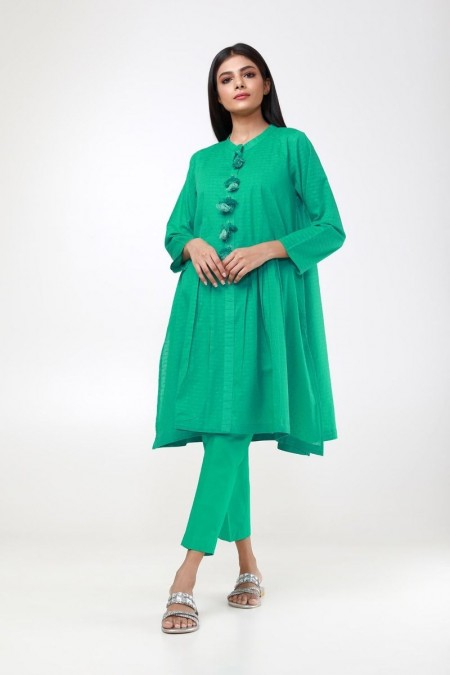 Khaadi Pret Collection Basic Brosha Kurta ETBB19431-Green