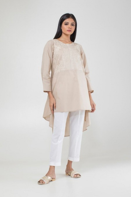 Khaadi Pret Collection Embroidered Kurta CTE194125-Beige