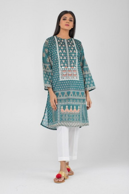 Khaadi Pret Collection Embroidered Kurta CTPE19438-Green