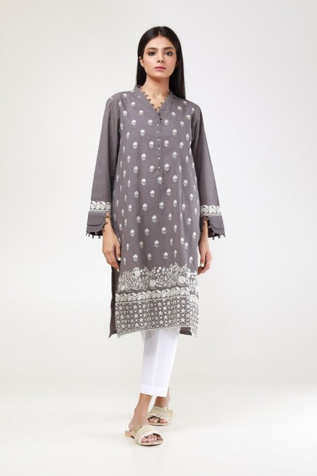 Khaadi Pret Collection Embroidered Kurta ETE194113-Grey
