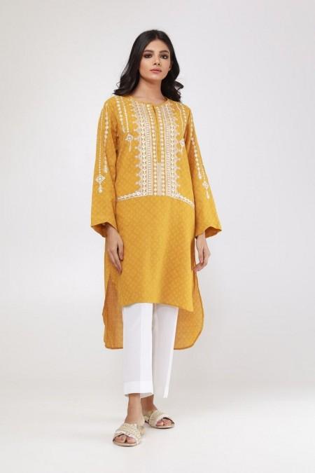 Khaadi Pret Collection Embroidered Kurta ETEJ19440-Yellow