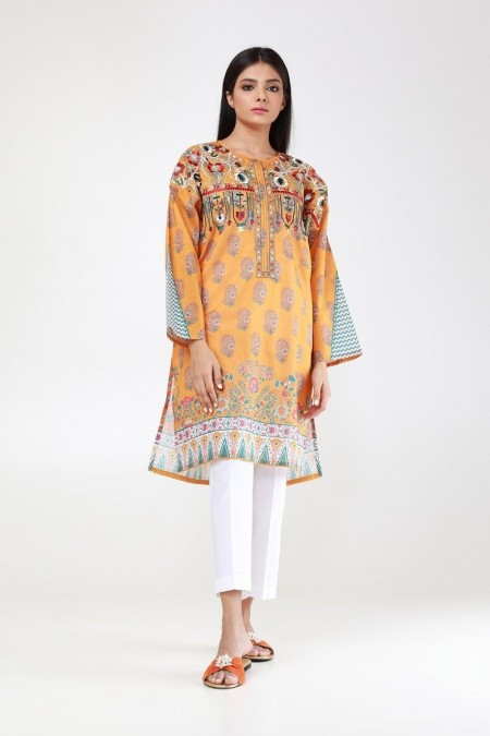 Khaadi Pret Collection Embroidered Kurta ETPE19417-Yellow
