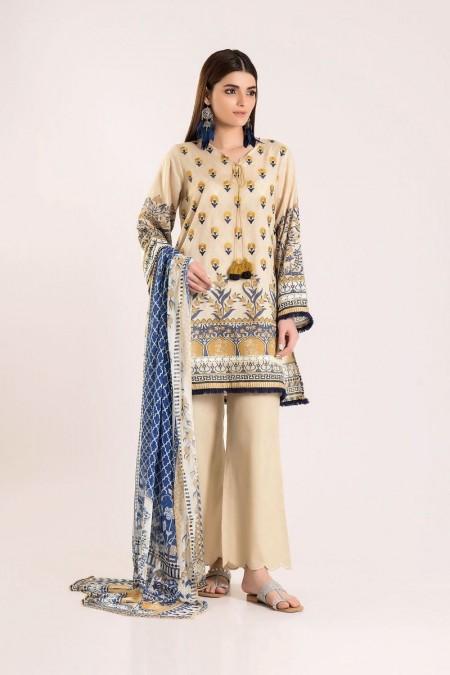 Khaadi Shirt Shalwar Dupatta R19417-Off-White-3Pc