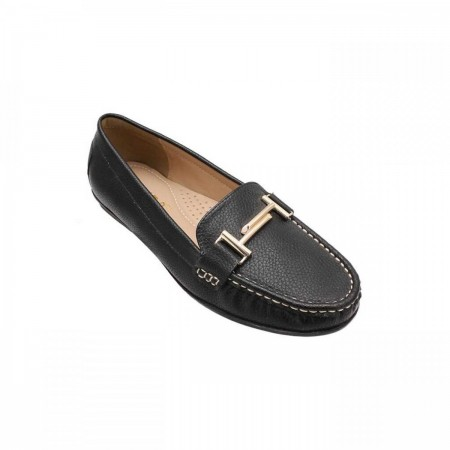 Liza Buckled Casual Loafers LZ-CF-0523-Black