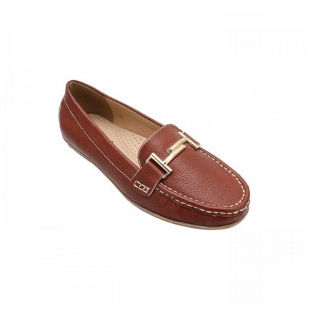 Liza Buckled Casual Loafers LZ-CF-0523-Tan