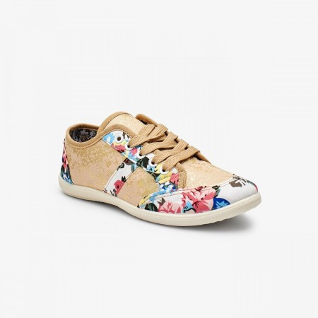 Liza Floral Ladies Shoes LZ-CA-0164-Beige