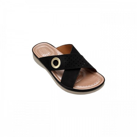 NDURE Criss Cross Womens Chappal ND-CF-0001-Black