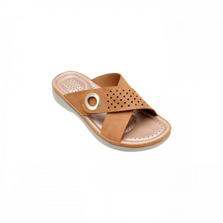 NDURE Criss Cross Womens Chappal ND-CF-0001-Tan