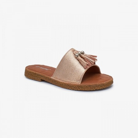 NDURE Fancy Tasseled Slides ND-FH-0002-Rose-Gold