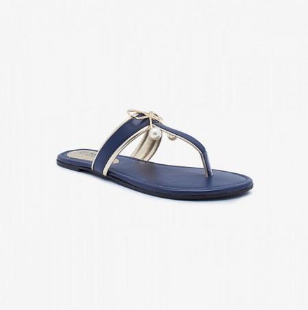 NDURE Fancy Toe Post Slides ND-FH-0035-Blue