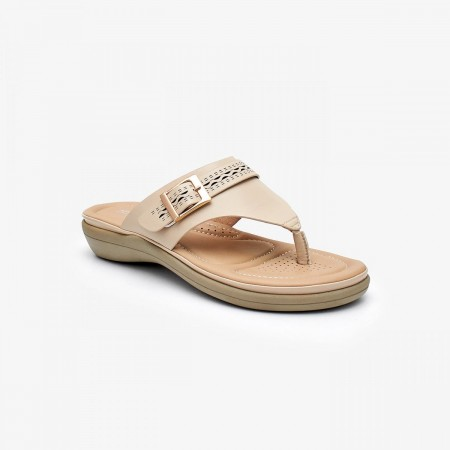 NDURE Ladies Comfort Chappal ND-CF-0015-BEIGE