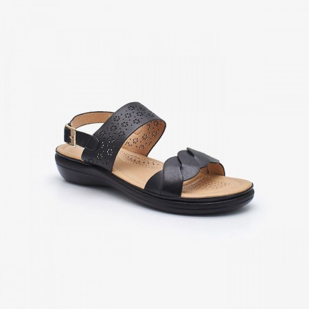 NDURE Ladies Comfort Sandal ND-CF-0013-BLACK