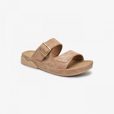 NDURE Ladies Memory Foam Chappal ND-CF-0003-GOLD